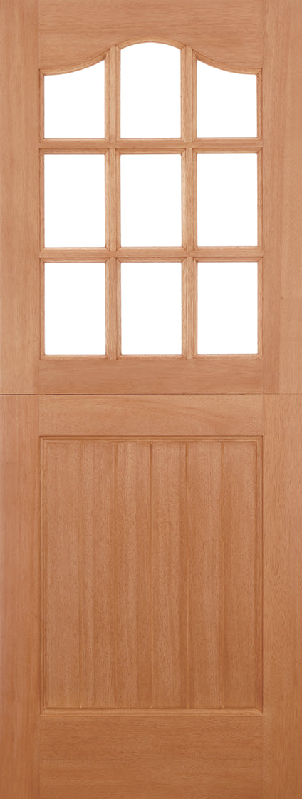Hardwood Stable Unglazed 9L Dowelled External Door