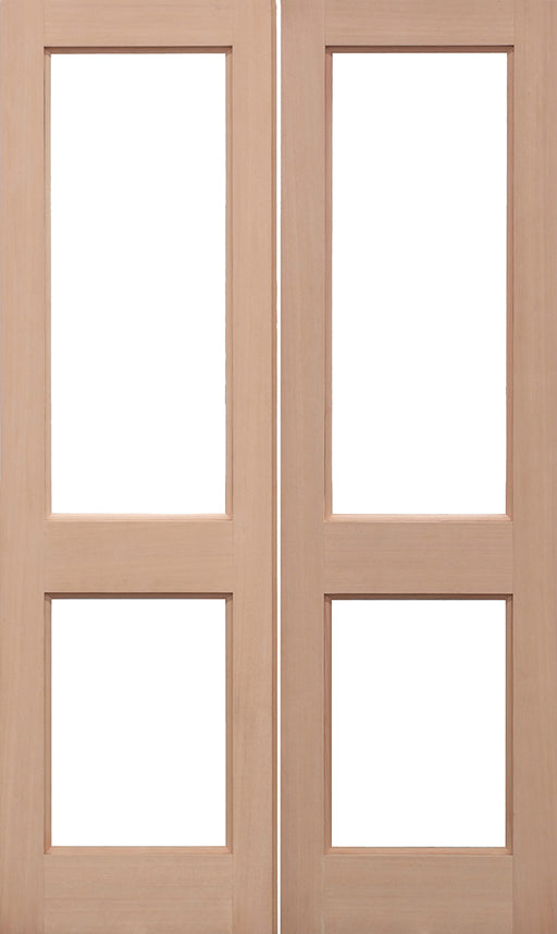 Hemlock Unglazed 2XGG Pairs External French Doors