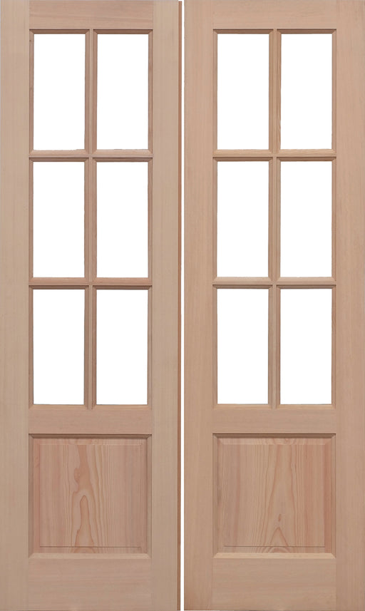 Hemlock Unglazed GTP2P Pairs External French Doors