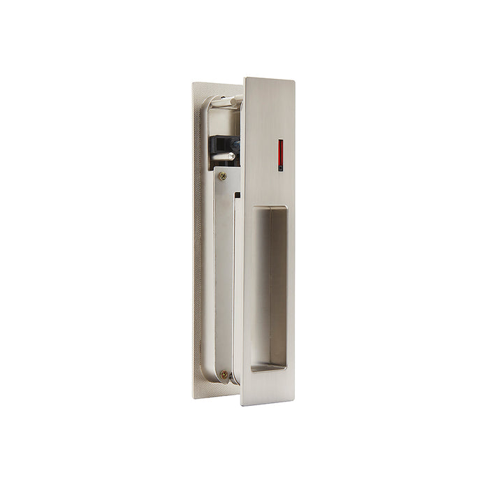 Gemini Satin Chrome Pocket Door Privacy Sliding Lock Ironmongery