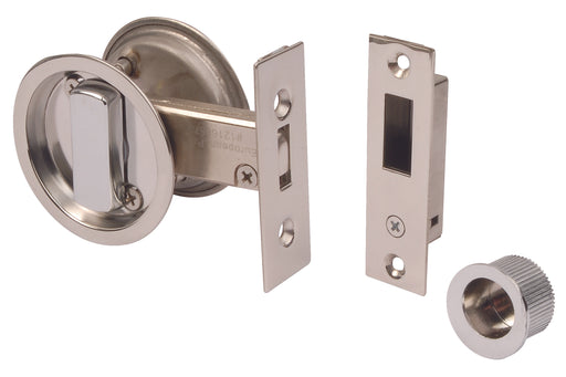 Pisces Polished Chrome Pocket Door Lock