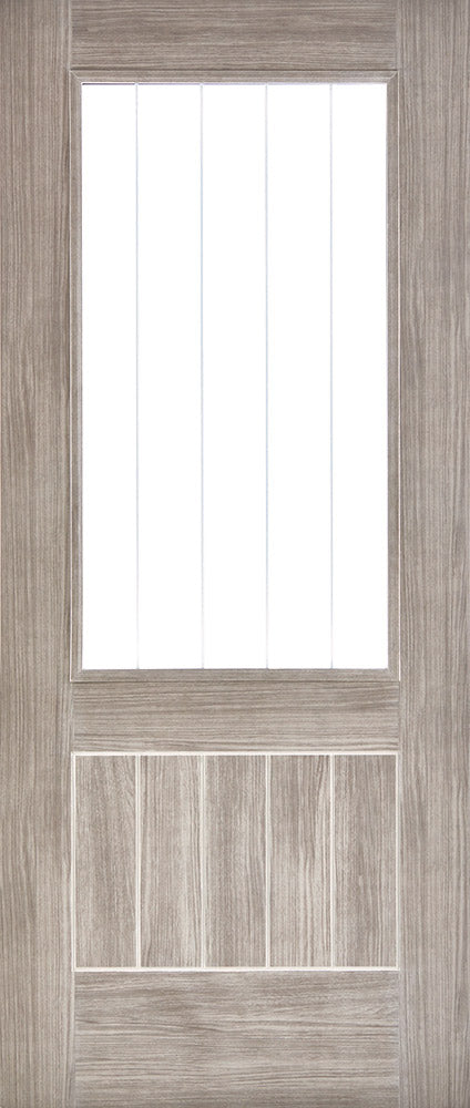 Light Grey Laminated Mexicano Glazed Internal Door