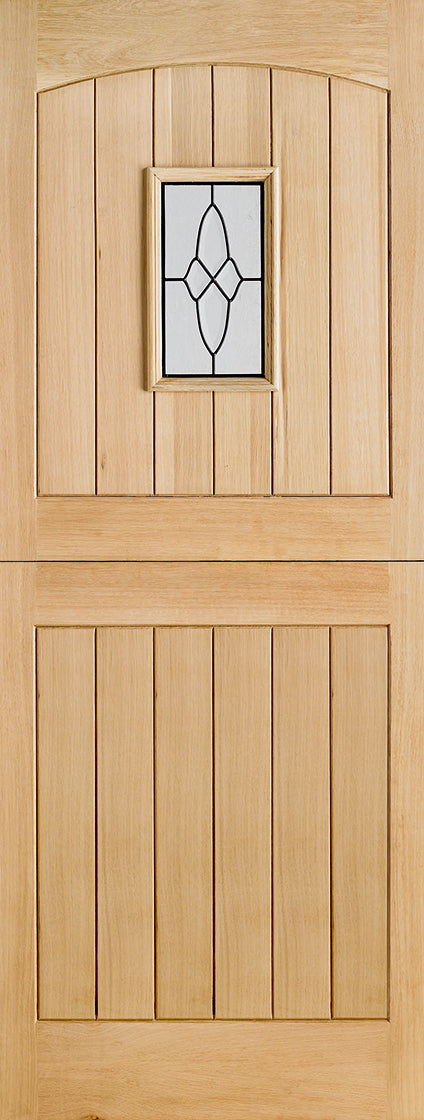 Oak Cottage Stable Glazed 1L External Door