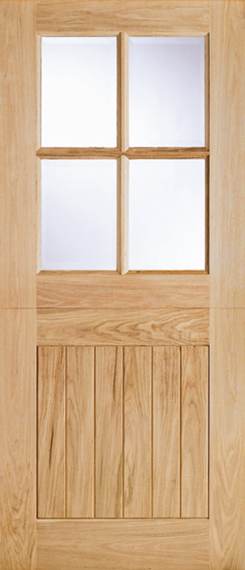 Oak Cottage Stable Glazed 4L External Door
