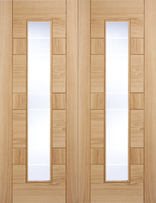 Oak Edmonton Glazed Pair Internal French Door