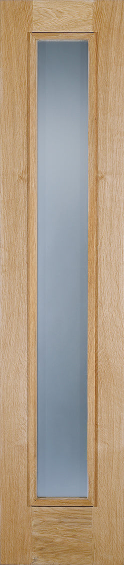 Oak Frosted Sidelight Glazed 1L External Door