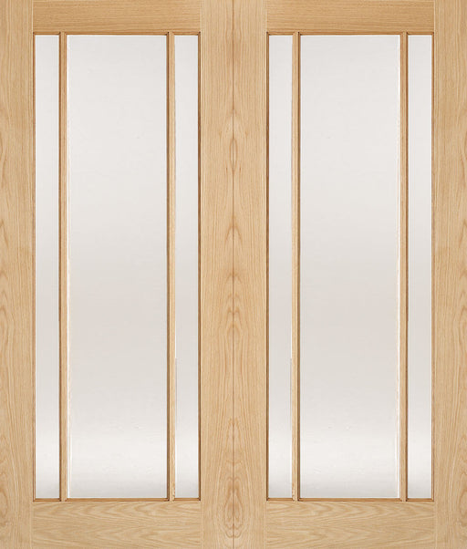 Oak Lincoln Glazed 3L Pairs Internal French Door