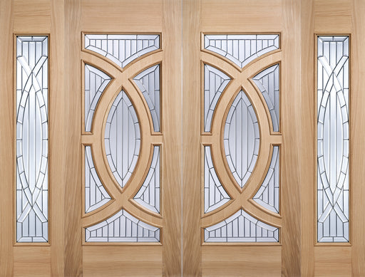Oak Majestic Sidelight Glazed 1L External Door