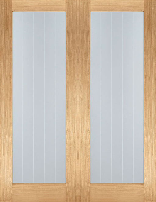 Oak Mexicano Glazed Pair Internal French Door