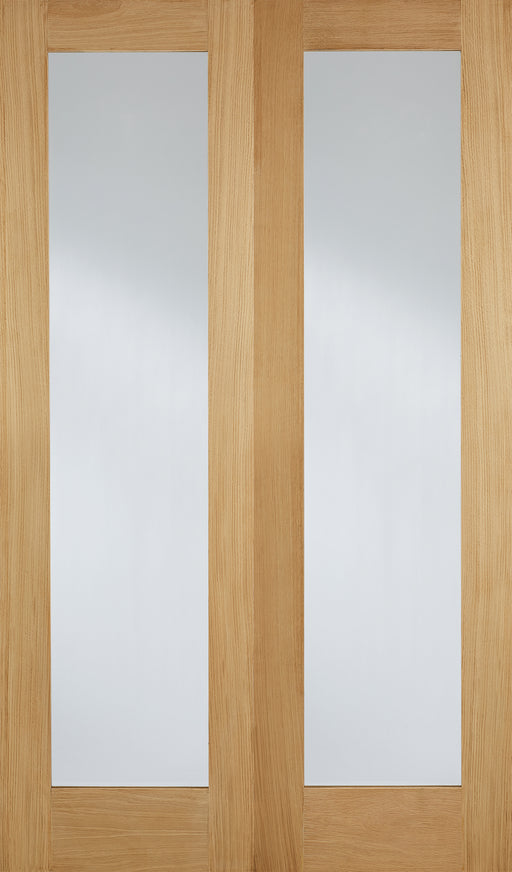 Oak Pattern 20 Glazed Pairs Internal French Door