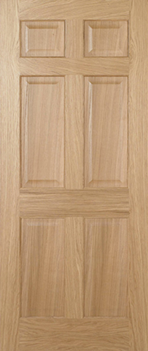 Oak Regency 6P Equal Panel Internal Door