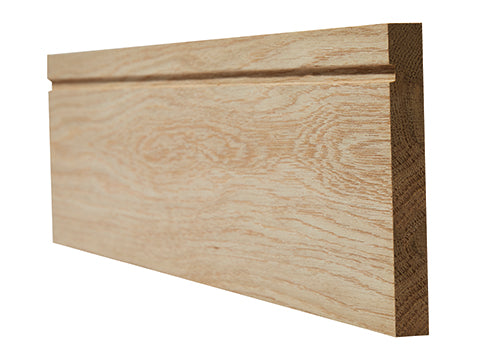 Oak Skirting Single Groove