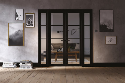 Room Divider Black Soho W6 Internal Room Divider