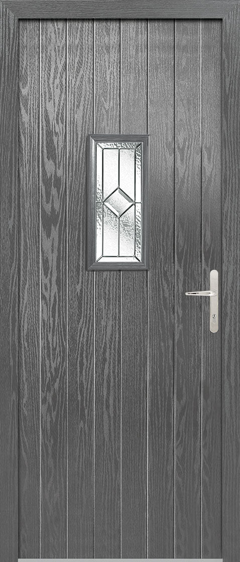 Speedwell Grey Glazed Door Set