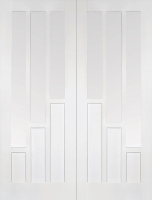 White Coventry Glazed Pair Internal French Door