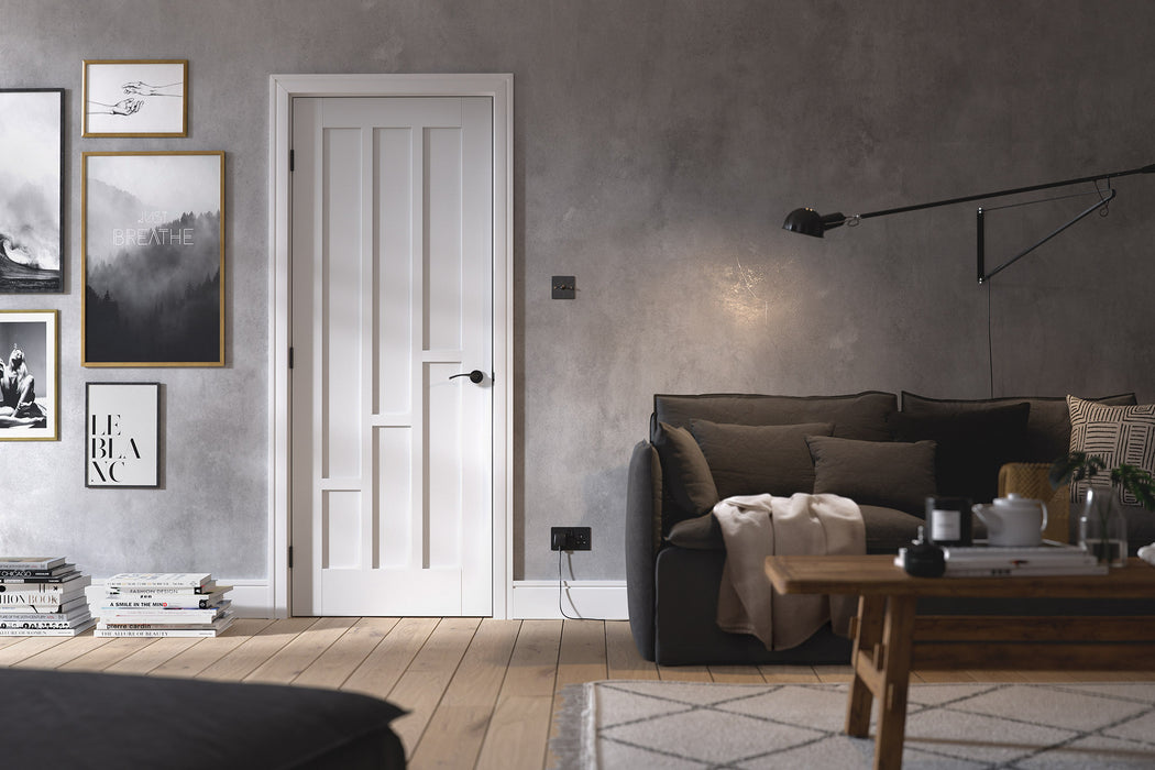 White Coventry Internal Door Fire Rated
