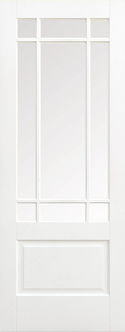 White Downham Glazed 9L Internal Door