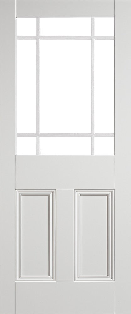 White Downham Unglazed 9 Light Internal Door