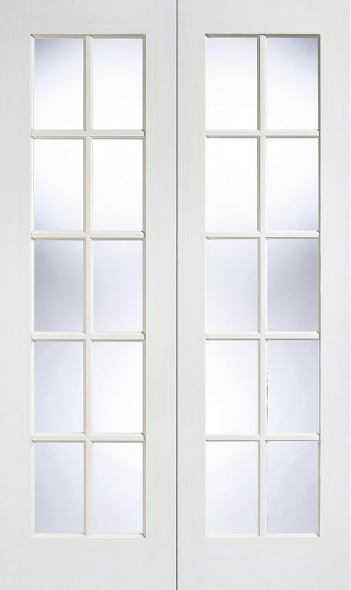 White GTPSA Glazed Pair Internal French Door