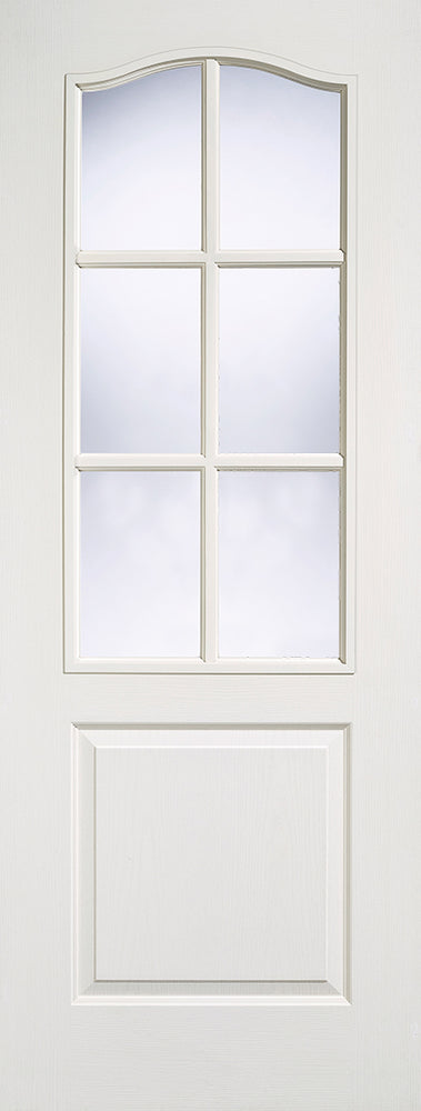 White Moulded Classical 6L Glazed Internal Door