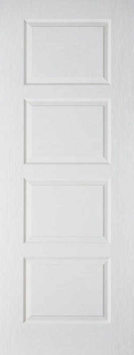 White Moulded Contemporary 4P Internal Door Fire Rated