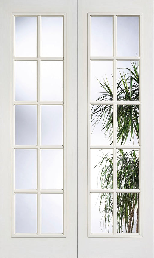 White Moulded SA 20L Glazed Pair Internal French Door