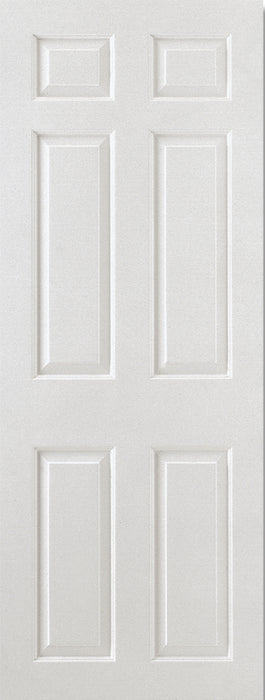 White Moulded Smooth 6P Square Top Internal Door Fire Rated