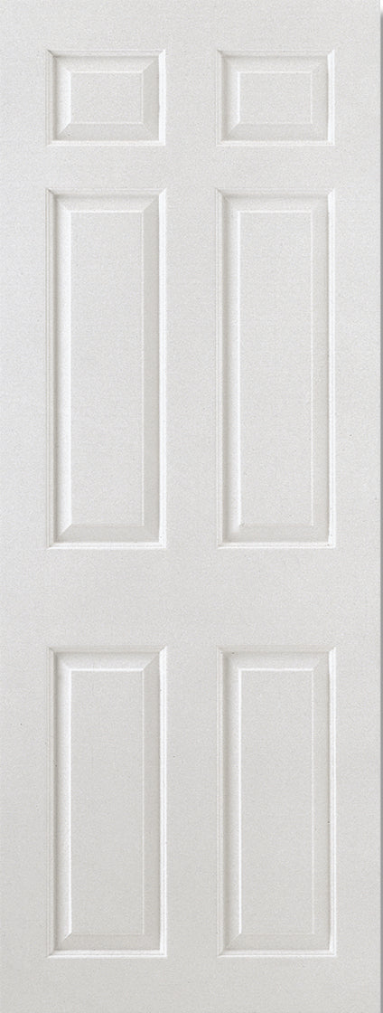 White Moulded Smooth 6P Square Top Internal Door