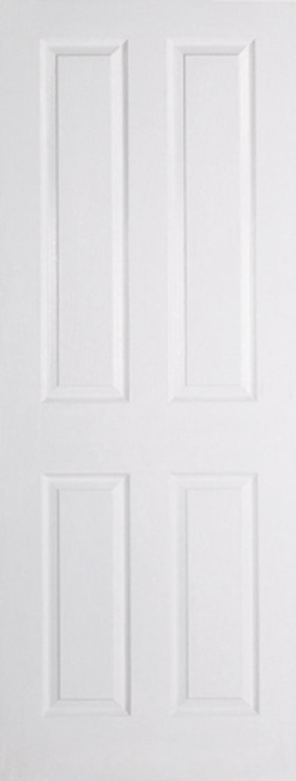White Moulded Textured 4P Internal Door