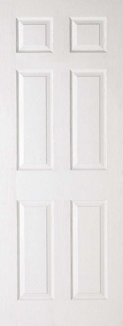 White Moulded Textured 6P Internal Door Fire Rated