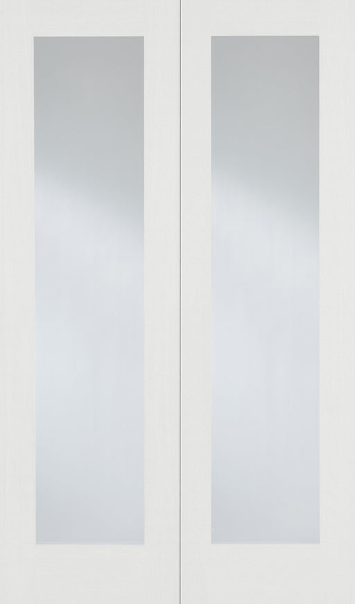 White Pattern 20 Glazed Pair Internal French Door