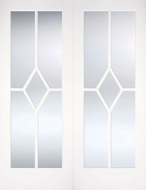 White Reims Glazed Pair Internal French Door