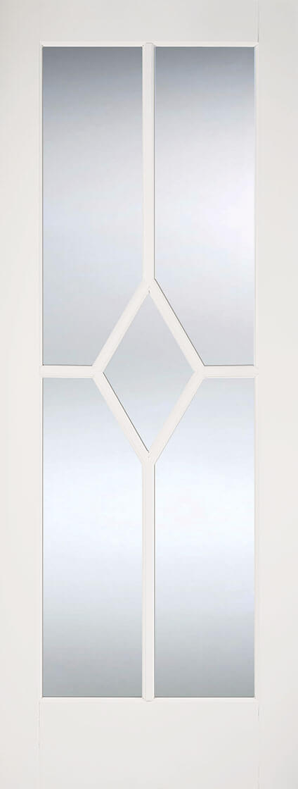 White Reims Glazed Internal Door