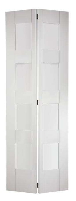 White Shaker Glazed 4L Bi-Fold Internal Bi-Fold