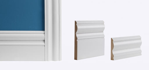 White Primed Victoriana Skirting