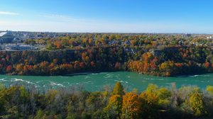 The Niagara Gorge and a view of Canada
