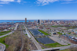 A view of the City of Buffalo from the Larkin District