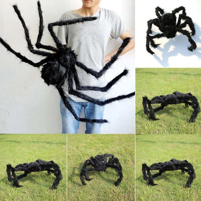 Realistic Hairy Spider Halloween Decoration