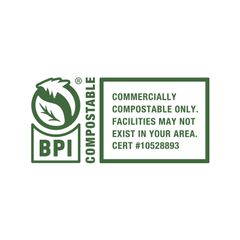 BPI Compostable - Commercially compostable only. Facilities may not exist in your area #10528893