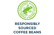 Responsibly Sourced Rain Forest Alliance Coffee Beans