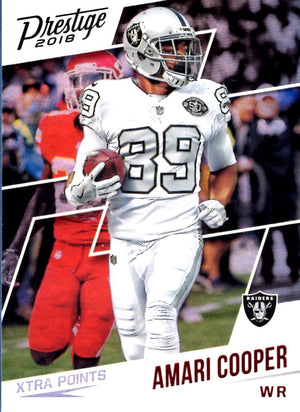 2018 Panini Prestige  -  Amari Cooper Xtra Points (Red Parallel Refractor)  #81