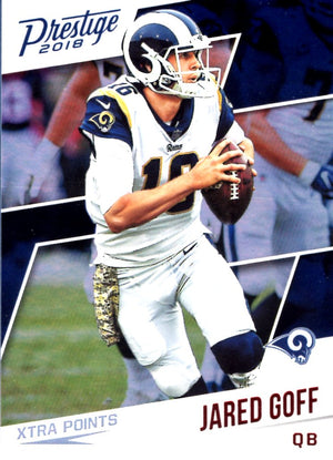 2018 Panini Prestige  -  Jared Goff Xtra Points (Red Parallel Refractor)  #83