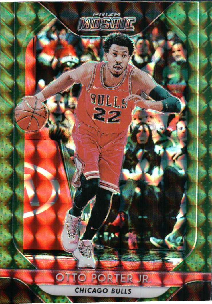 2018-19 Prizm Mosaic - Otto Porter Jr. (Green Parallel Refractor) #82