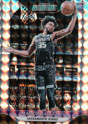 2018-19 Prizm Mosaic - Marvin Bagley III (Silver Parallel Refractor, Rookie, RC) #71