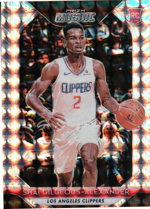 2018-19 Prizm Mosaic - Shai Gilgeous-Alexander (Silver Parallel Refractor, Rookie, RC) #89