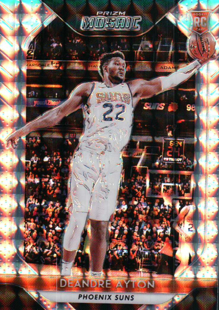 2018-19 Prizm Mosaic - Deandre Ayton (Silver Parallel Refractor, Rookie, RC) #18