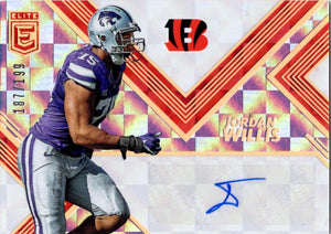 2017 Donruss Elite - Jordan Willis (Autograph, Serial #d 187/199, Rookie, RC, Parallel Refractor) #RA15 - StockPile Football Cards