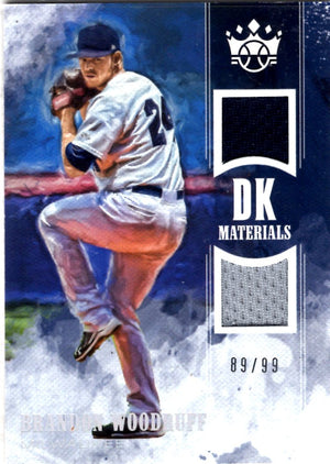2018 Diamond Kings *DK Materials* - Brandon Woodruff (Serial #'d 89/99, Dual Patch Relic) #DKM-BW