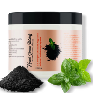 Organic Charcoal & Peppermint Infusion Hair Conditioning Clay Mask (NEW PRODUCT)