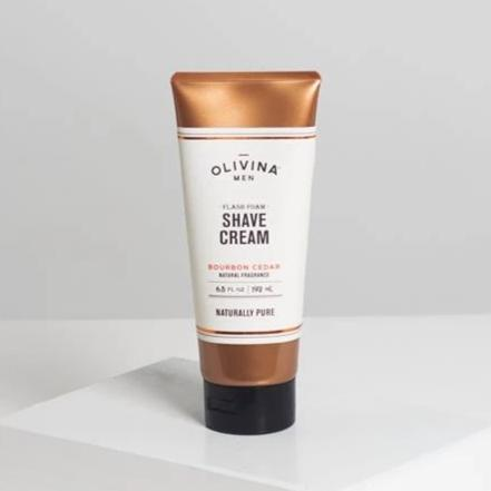 Conditioning Shave Cream - Bourbon Cedar by Olivina - All Men's Style And Wellness